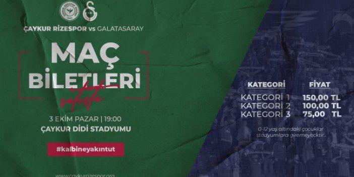 Çaykur Rizespor-Galatasaray Maçı Biletleri Satışa çıktı