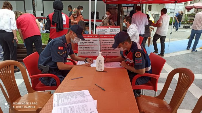 Jandarma Kan Bağışına Destek Verdi