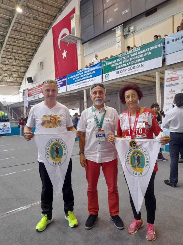 Sınırsız Dostluk Maratonu'nda Çaycuma'yı Temsil Ettiler