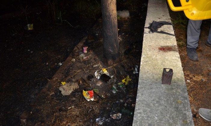 Parkta Alkol Alırken Ateş Yakan Şahıs Kendini Yaktı