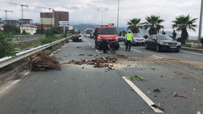 Rize'de Trafik Kazası: 1 Yaralı