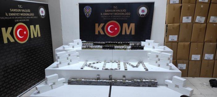 Samsun'da 9 Bin Adet Makaron Ve 345 Adet Sahte Bandrollü Sigara Ele Geçti