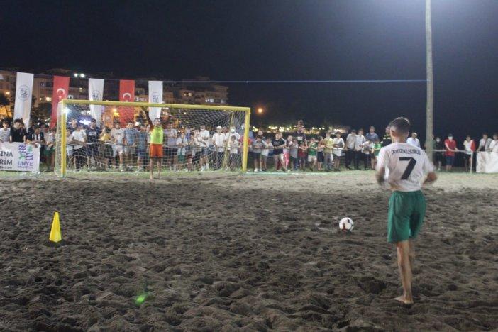 Ünye'deki Kum Futbolu Turnuvası Sona Erdi