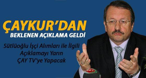 �aykur Yar�n ���i Al�mlar�n� A��kl�yor
