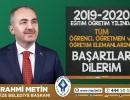 Eğitimci Başkan Metin'den 2019-2020 Eğitim Yılı Mesajı