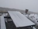 Rize'de Huser Yaylası'nda kar sürprizi